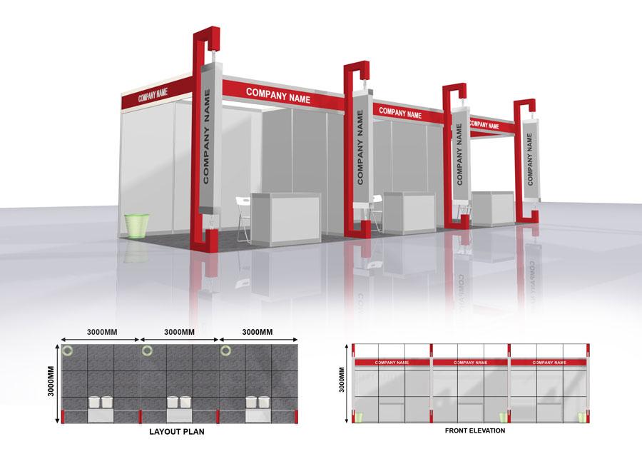 Exhibition Shell Scheme Design : Shell scheme perintis network